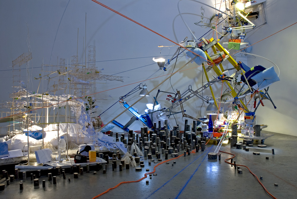 Sarah Sze, A Certain Slant, detail, 2007. Image credit: The National Academy.