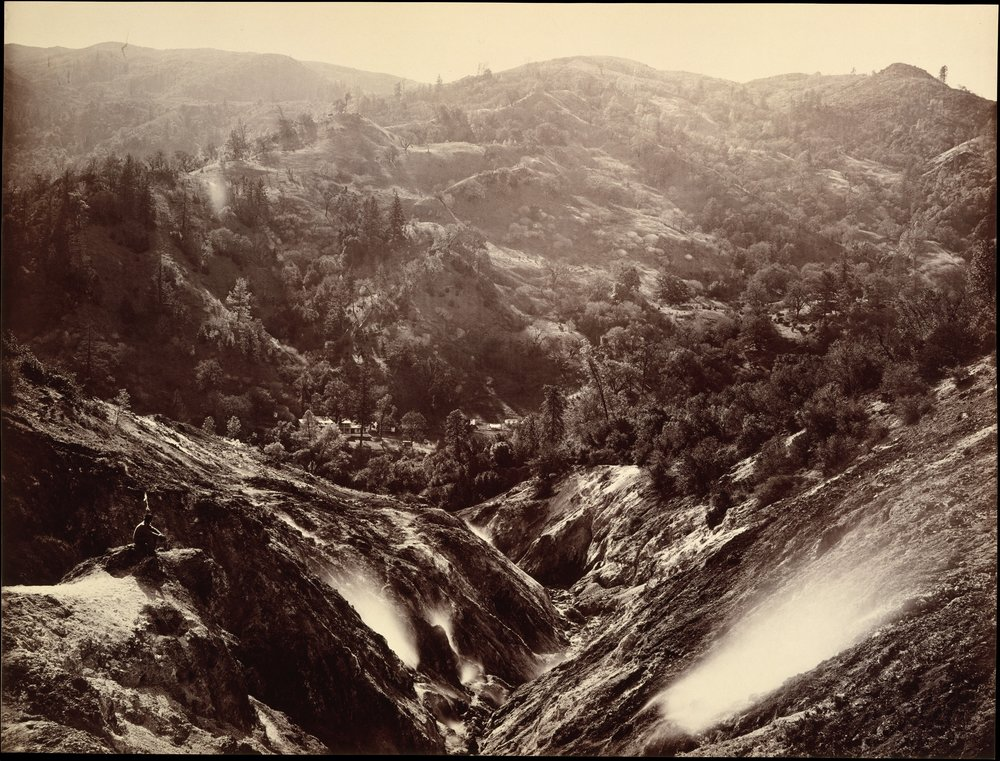 Carleton Watkins, Devil's Canyon, Geysers, Looking Down, 1868-70.  Image credit: The Metropolitan Museum of Art, Rogers Fund, 1989.
