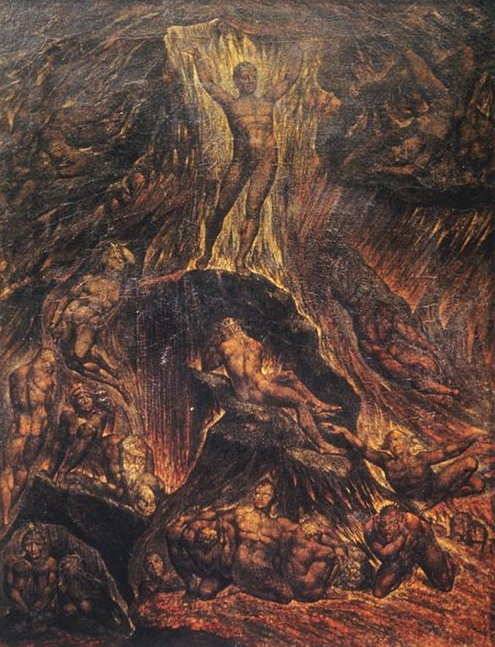 William Blake, Satan Calling Up His Legions, 1804. Image credit: WikiArt.