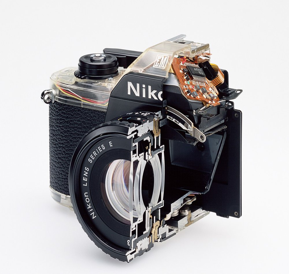 Christopher Williams, Cutaway model Nikon EM. Shutter, 2007. Image credit: Observer.