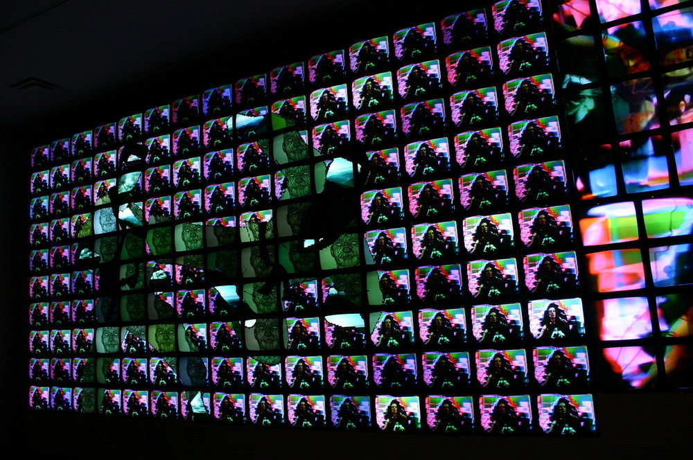 Nam June Paik,  Megatron/Matrix  (1995). Image credit: Flickr user Ryan Somma.