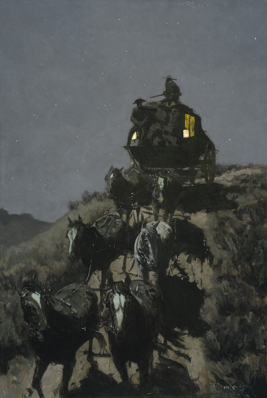 Frederic Remington's  The Old Stage-Coach of the Plains  (1901). Courtesy of Wikimedia.