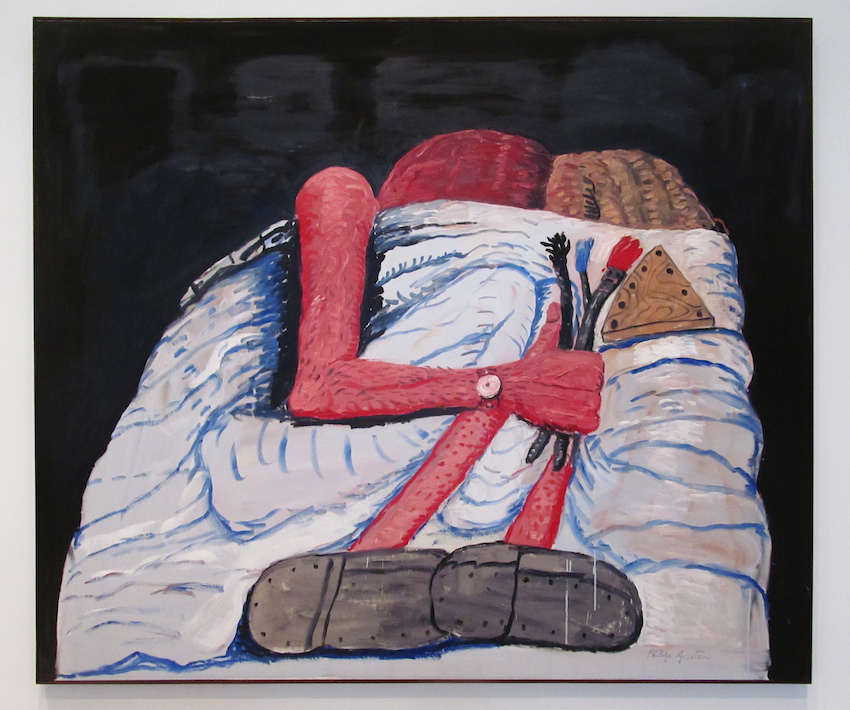 Philip Guston,  Couple in Bed , 1977. Image courtesy of  Flickr user rocor .