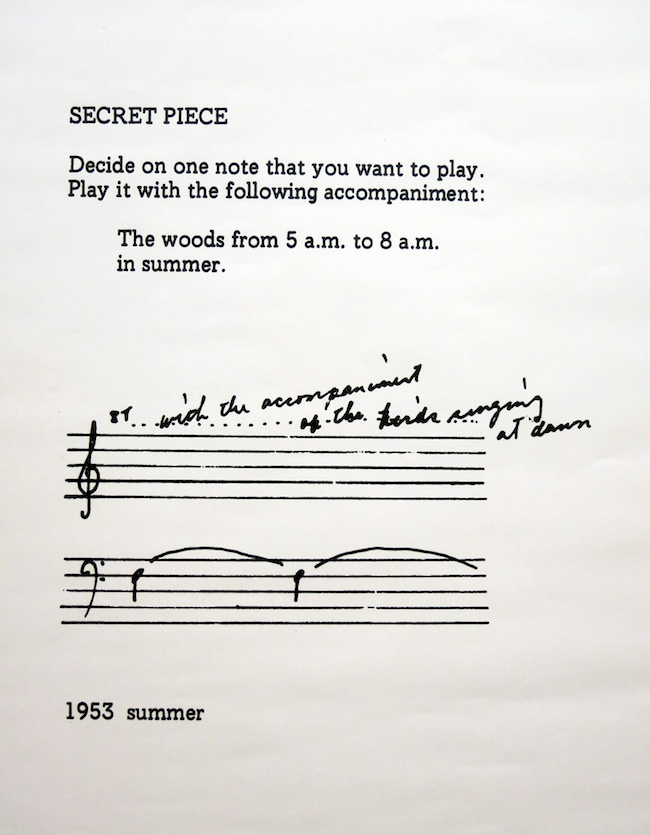Yoko Ono,  Secret Piece,  1953.Image courtesy of  Flickr user Emiliano .
