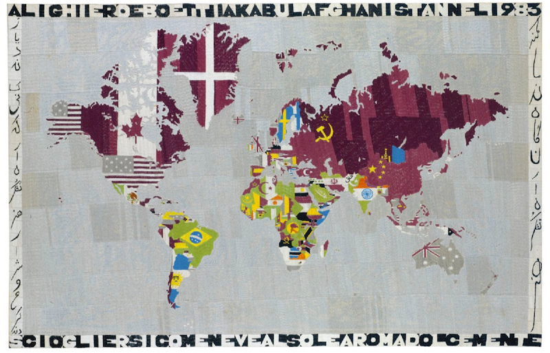 Alighiero Boetti,  Mappa (Kabul, Afghanistan),  1983. Image courtesy of  Flickr user   cea .