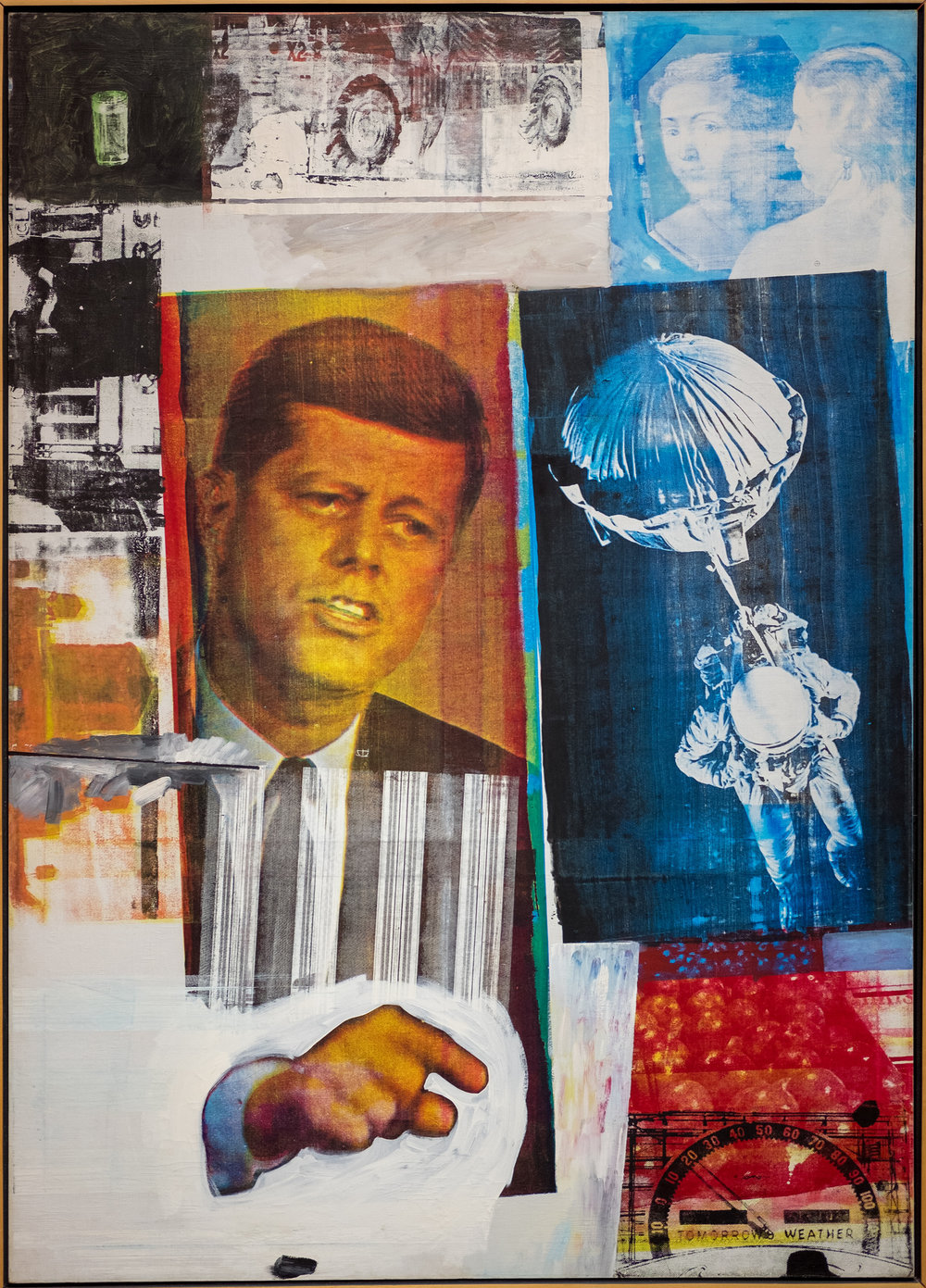 Robert Rauschenberg,  Retroactive II , 1963. Image courtesy of  Flickr user Sharon Mollerus .