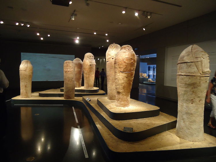 Installation view of sarcophagi at the Israel Museum, Jerusalem. Image courtesy of Wikipedia.