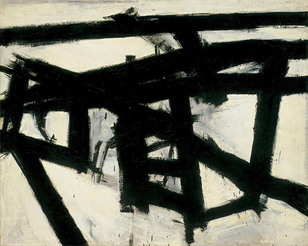 Franz Kline,  Mahoning ,  1956 . Image courtesy of Flickr user  G. Starke .