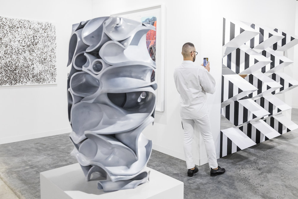 Konrad Fischer Galerie's booth at Art Basel Miami Beach 2018. Image courtesy of Art Basel.