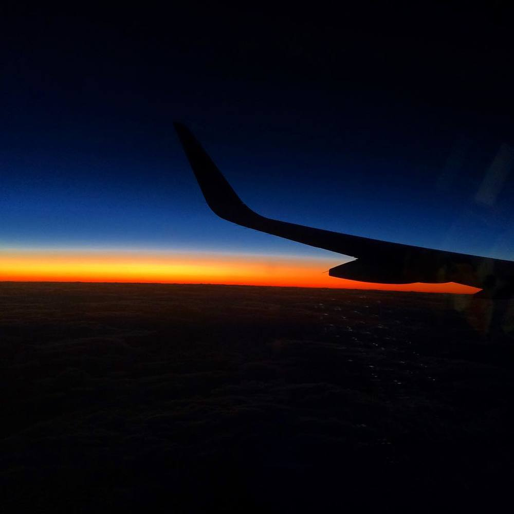 Pretty much all I want to do these days is travel and experience beautiful places and beautiful people. #jetblue #sunset