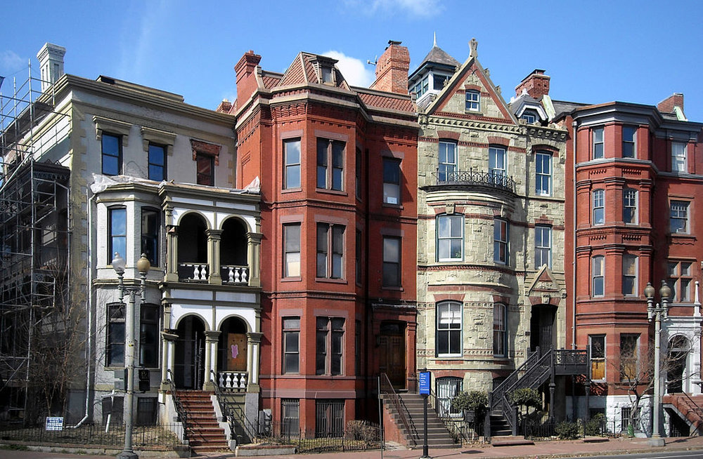 Logan Circle rowhouses, picture by  AgnosticPreachersKid