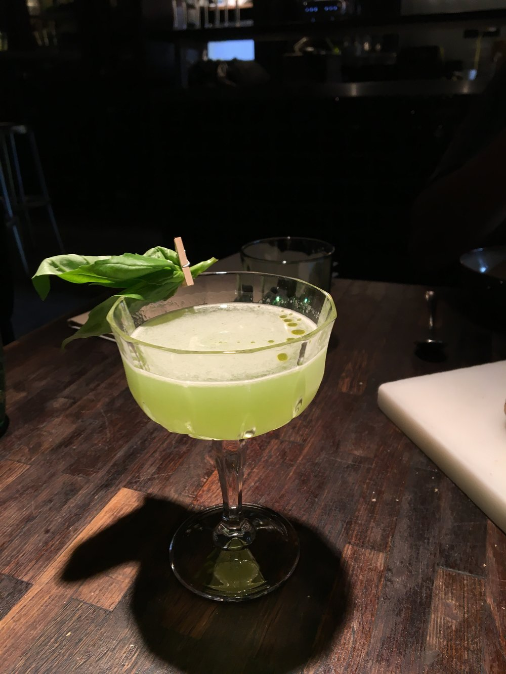 Basil gin cocktail