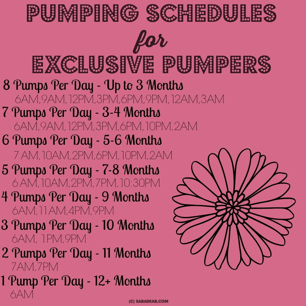 Exclusively Pumping Schedule SaraDear