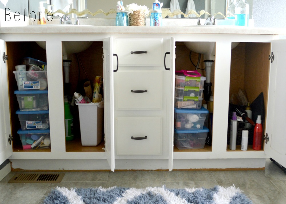 Bathroom Cabinet Organization 1