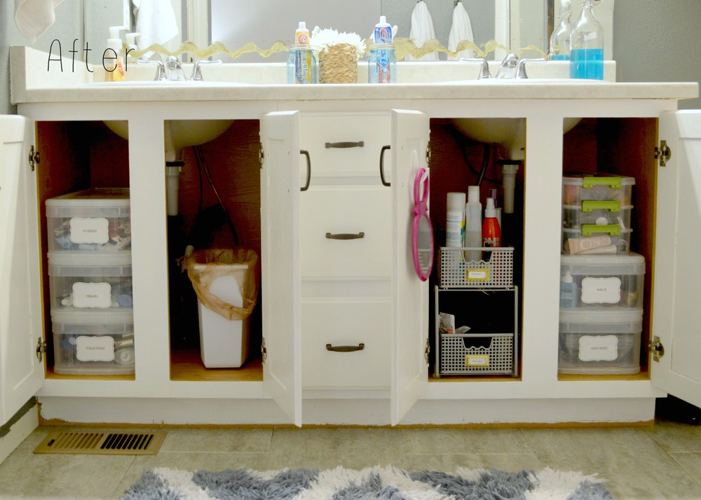 Bathroom Cabinet Organization 5