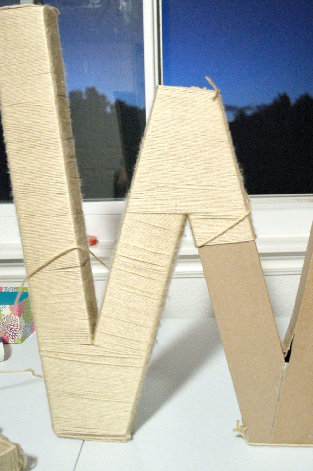 DIY Giant Wrapped Wall Art Yarn Letter 7.jpg