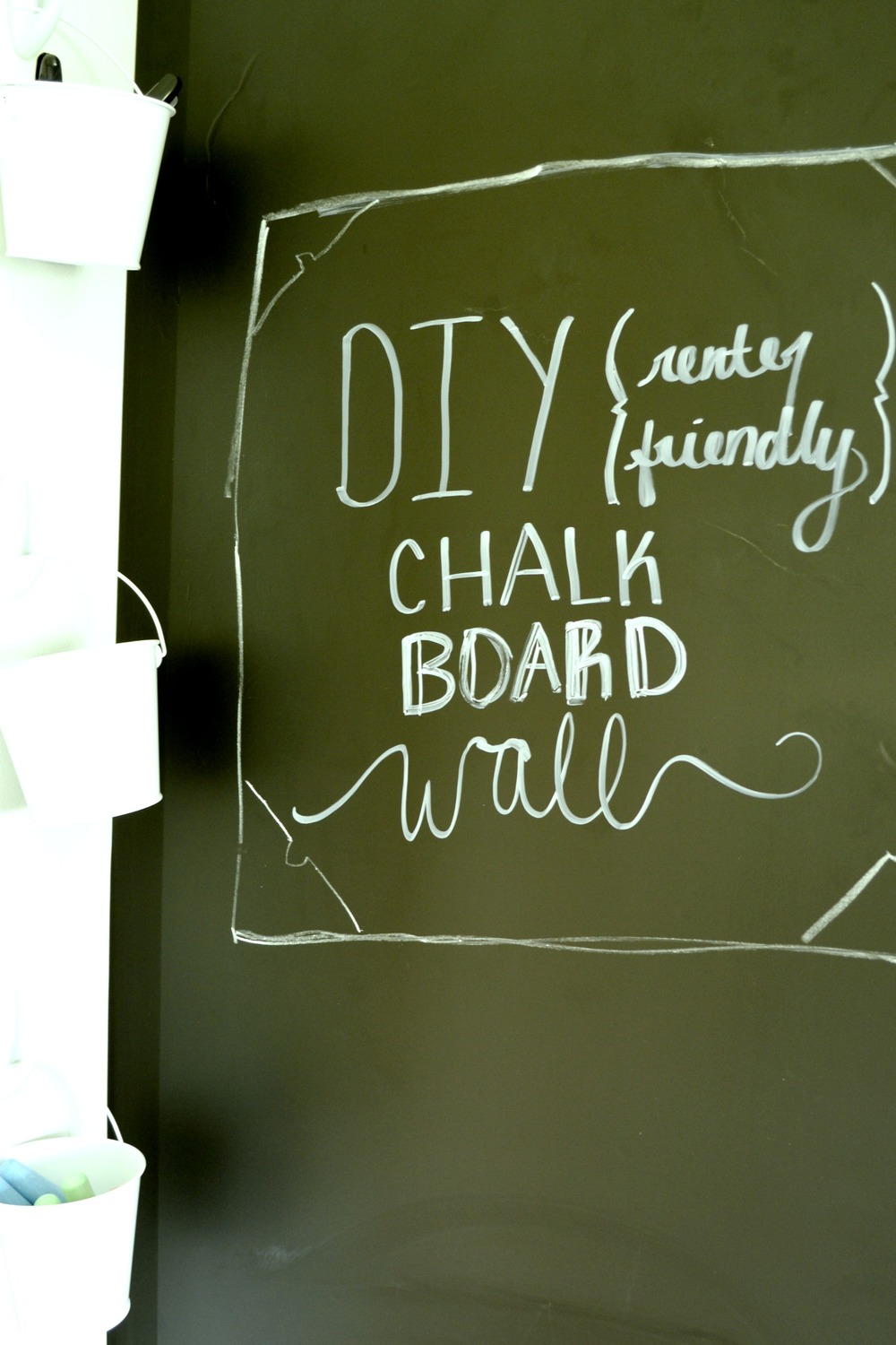 Kitchen Chalkboard With Shelf Renter Friendly Kitchen Chalkboard Wall Sara Dear