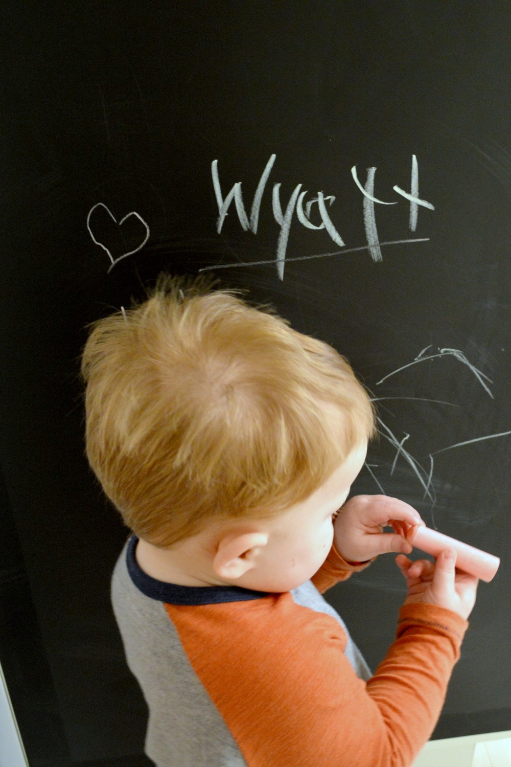 DIY Renter Friendly Chalkboard Wall Kitchen 9.jpg