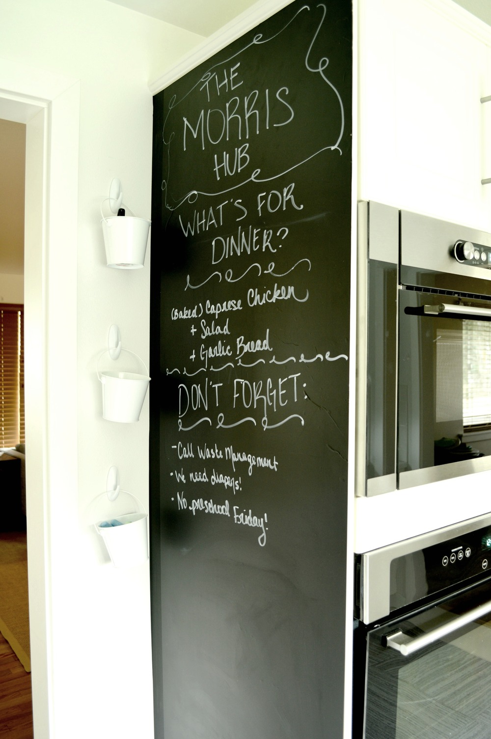DIY Renter Friendly Chalkboard Wall Kitchen 8.jpg