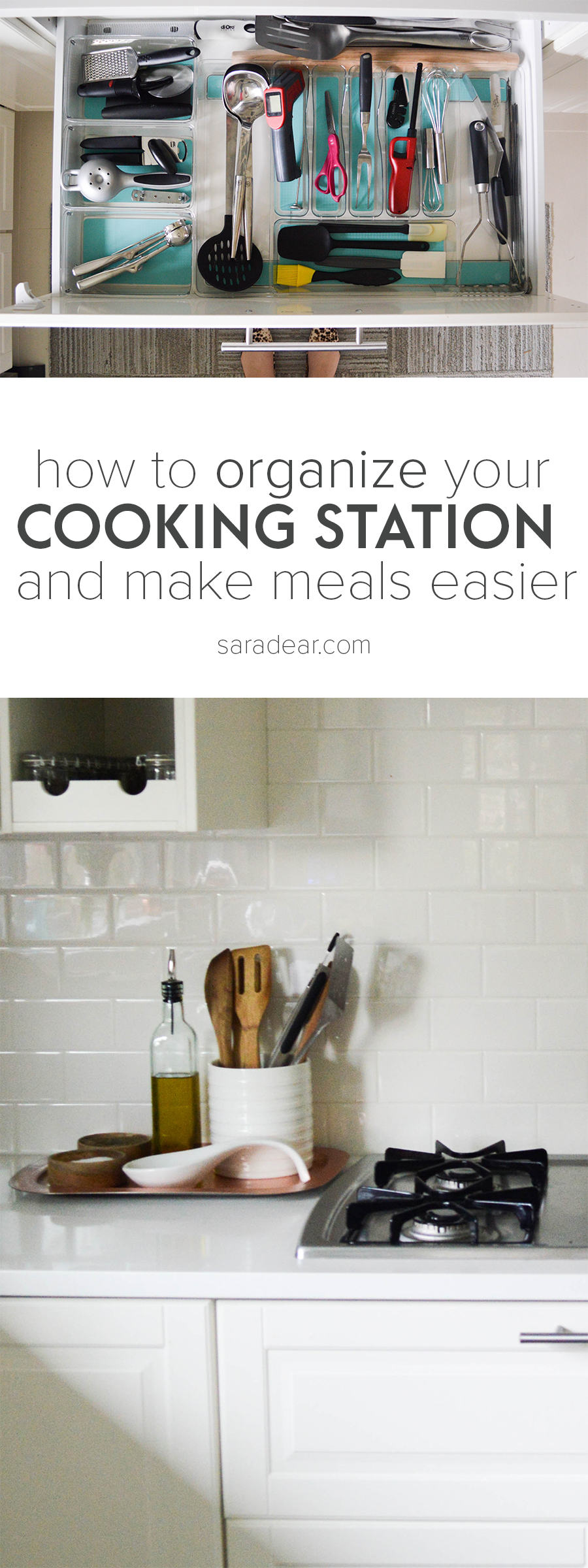 how to organize around stove cooking station.png