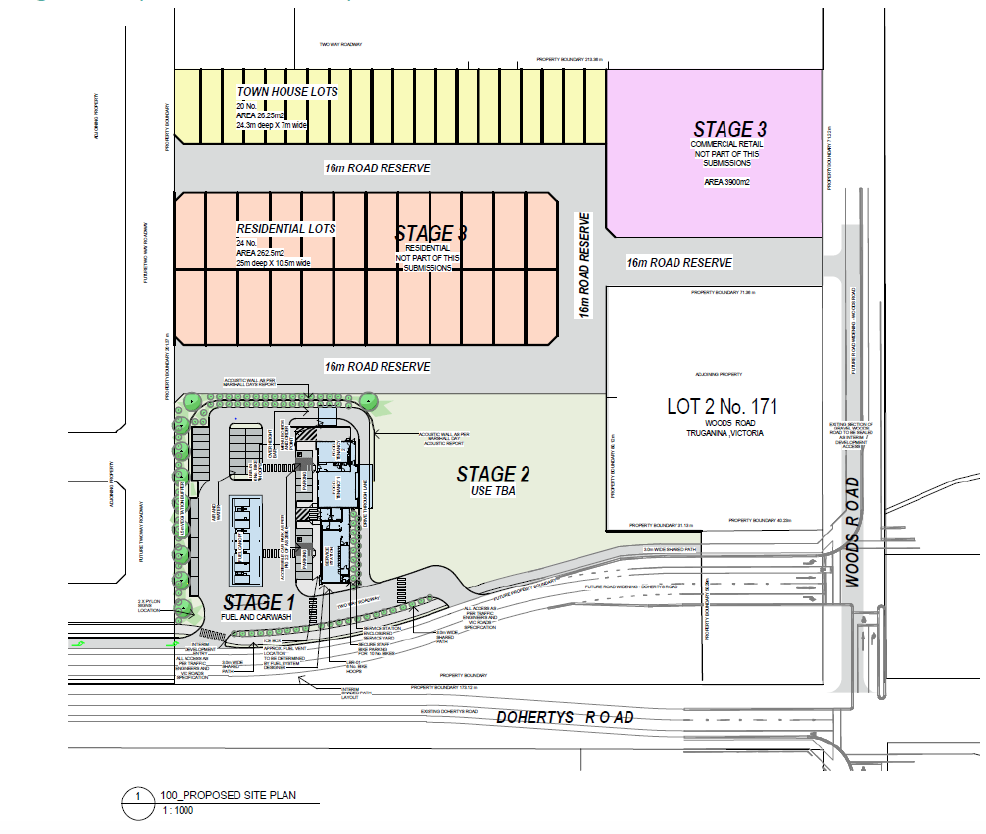 Staged site plan