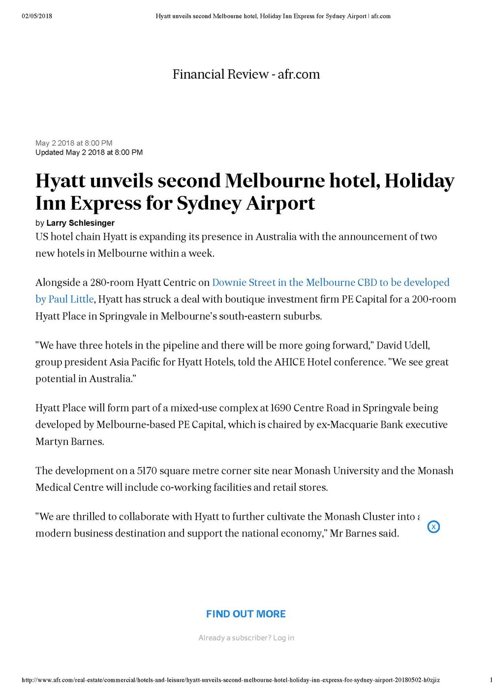 Hyatt unveils second Melbourne hotel, Holiday Inn Express for Sydney Airport _ afr.com-1_Page_1.jpg