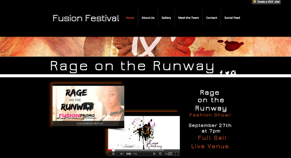 Rage on the Runway website
