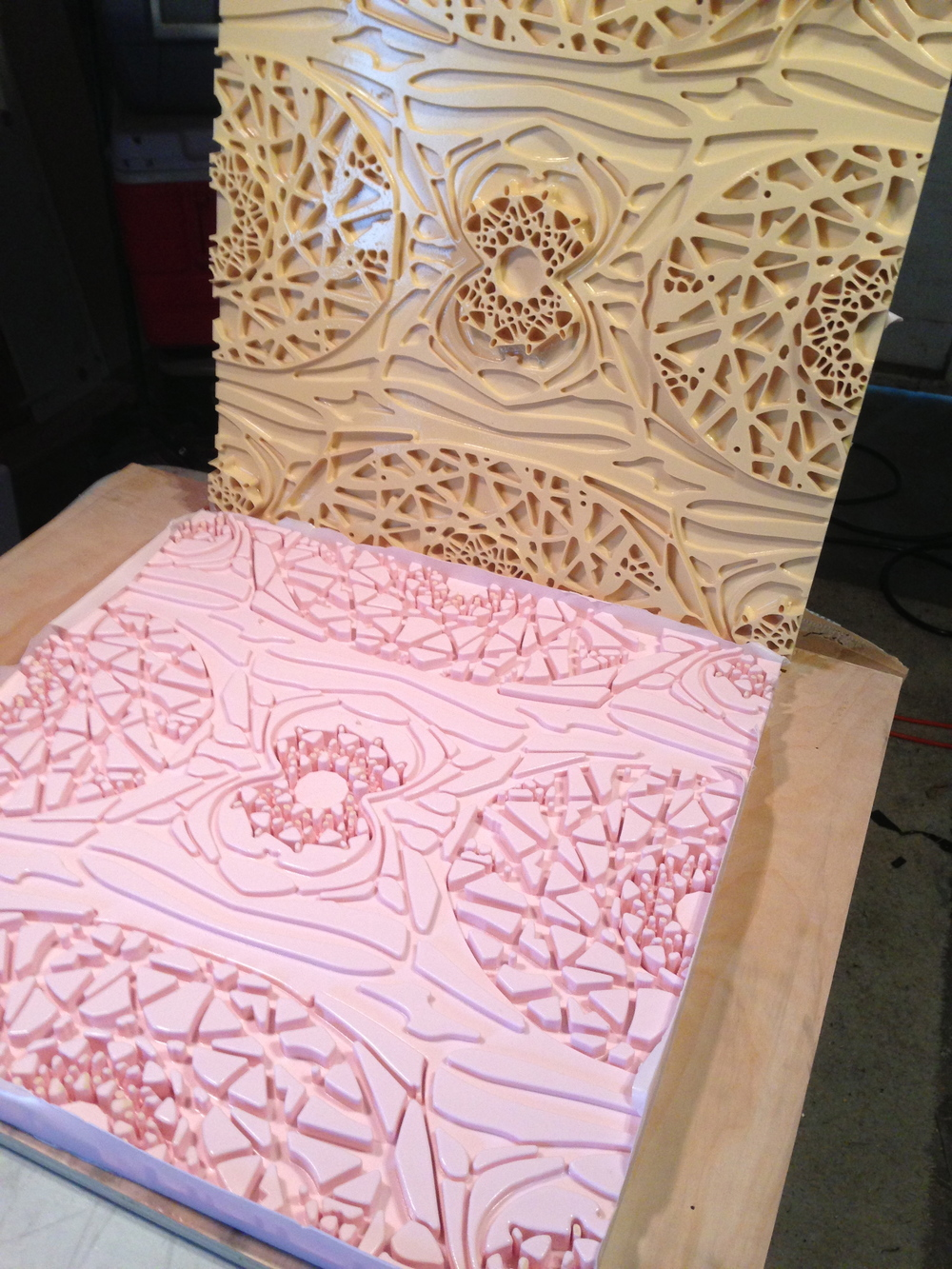 Foam and Rubber tile mold