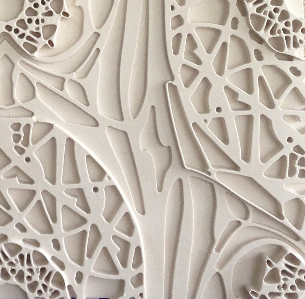 Plaster tile detail