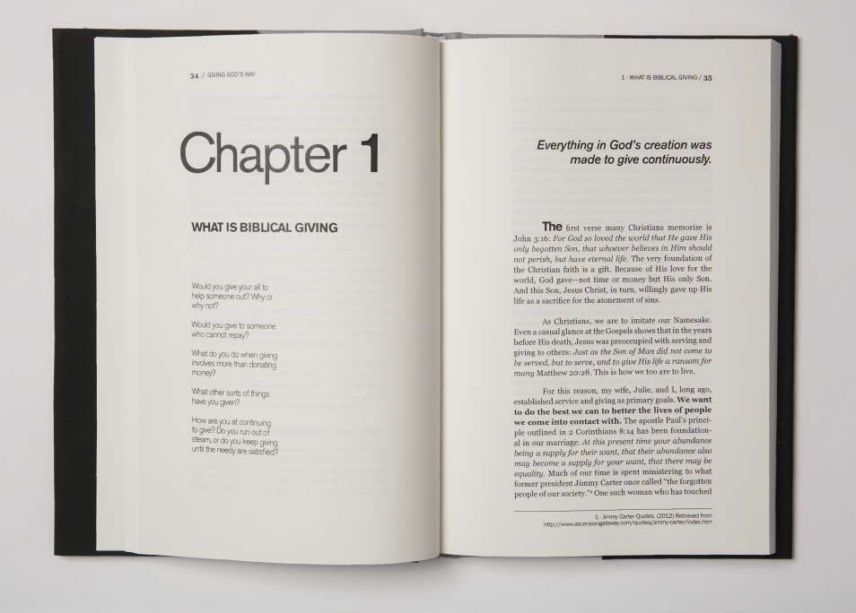 Each chapter starts like this, and beautiful, rich typography will usher you through...