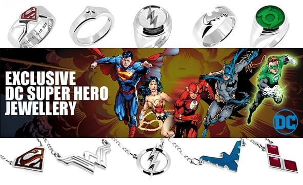 Available online and in stores. #GuildJewellery #DC #DCComics #Jewellery #Shopping #ShoppingOnline #Australia #Ring #Necklace #Earrings #Cufflinks #Silver #Sale #Gift