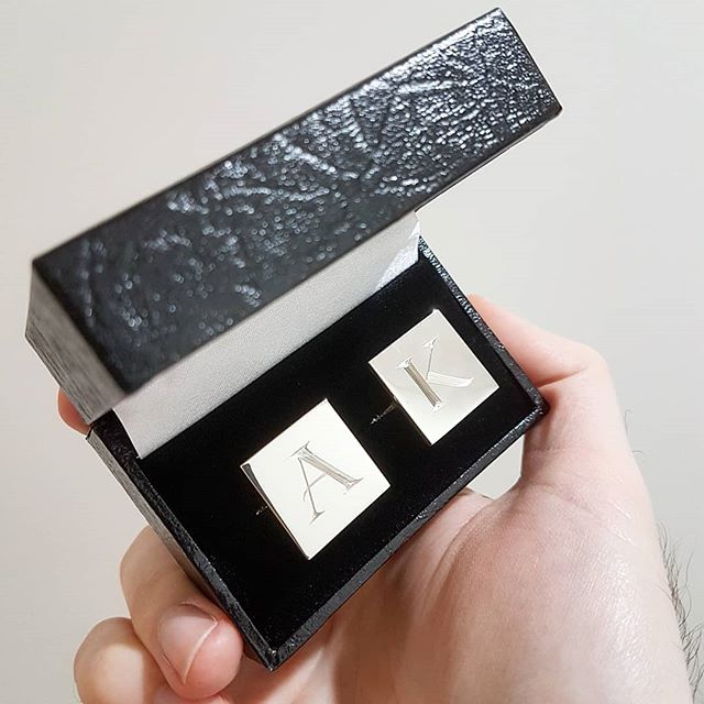Custom made hand engraved cufflinks. Suit up. #Cufflinks #Silver #SterlingSilver #Handmade #Engraving #Suit #Suitup #GuildJewellery