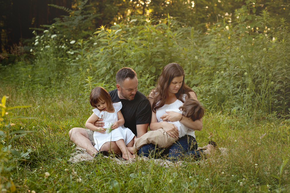 Worthington Photographer, Highbanks park, family session