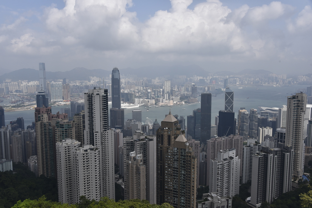 "The view from ""The Peak"" in Hong Kong."