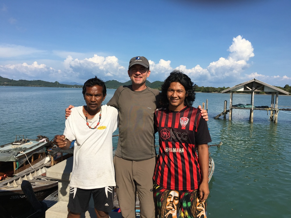 My boat-trip crew who exemplified Thai customer-service and genuine friendliness by bringing me lunch and water before my trip to Krabi.  Thanks guys!