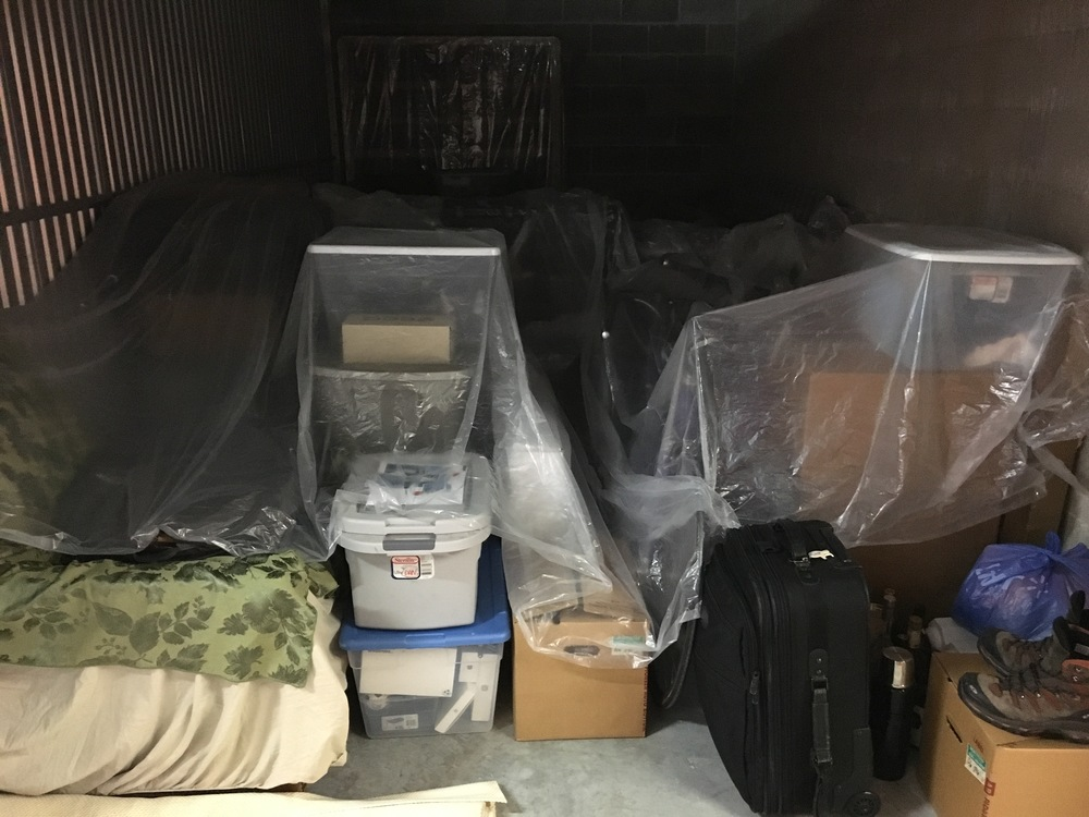 Storage unit filled and locked.  But it gets me thinking... If I don't need all this stuff for a year, will I *ever* need it??