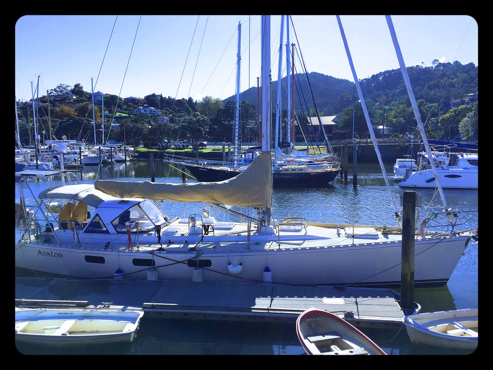 Parked front-and-center at the Whangarei Marina within the Town Basin, Whangarei, New Zealand.