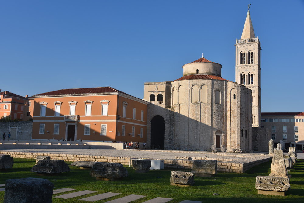 "The ""forum"" in Zadar.  Seemed like there was a plaza and/or cafe-bar around every corner.  Even moreso than Split perhaps."
