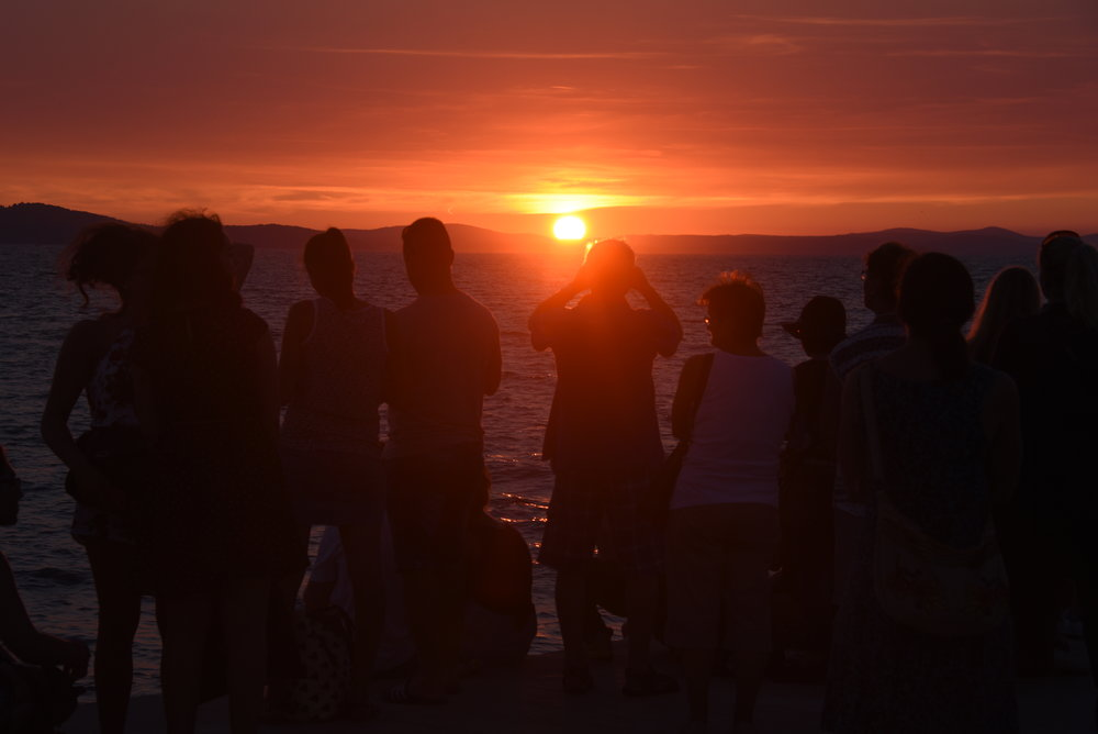 "The thing to do in Zadar:  Head to the north end of the peninsula where the ""sea organ"" hums to the motion of the ocean.  Enjoy a beer, your date, and/or a last swim of the day."