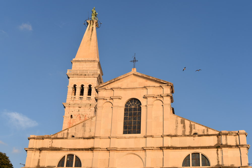 Church of St. Euphemia at sunset.