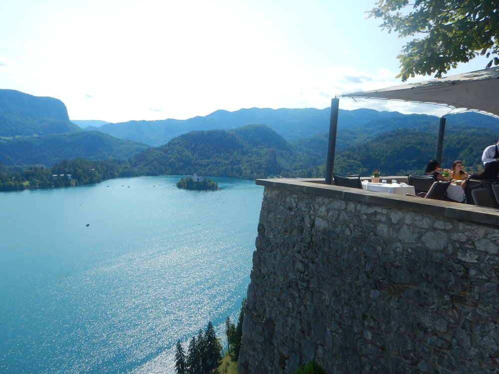 The view from Bled Castle.