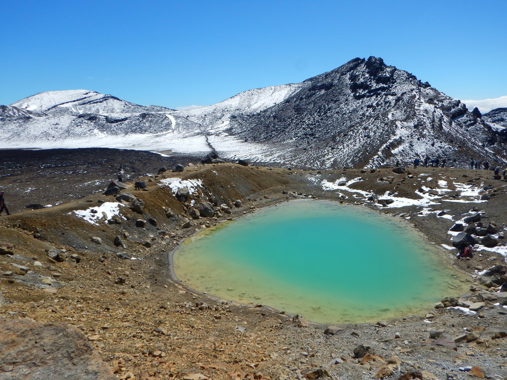 One of the Emerald Lakes. Look but don't touch. They are sacred to the Maori.