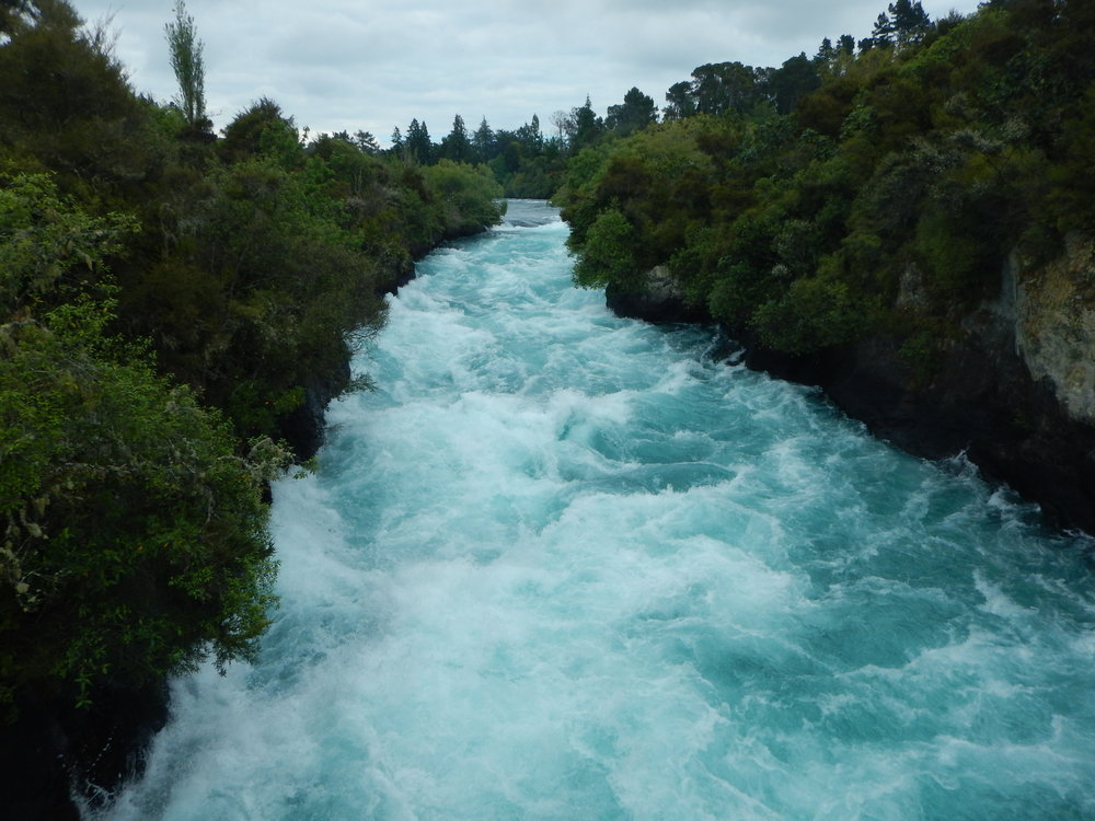 Huka Falls, upper section.