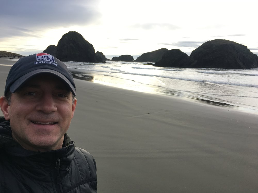 beach walk at gold beach, oregon.