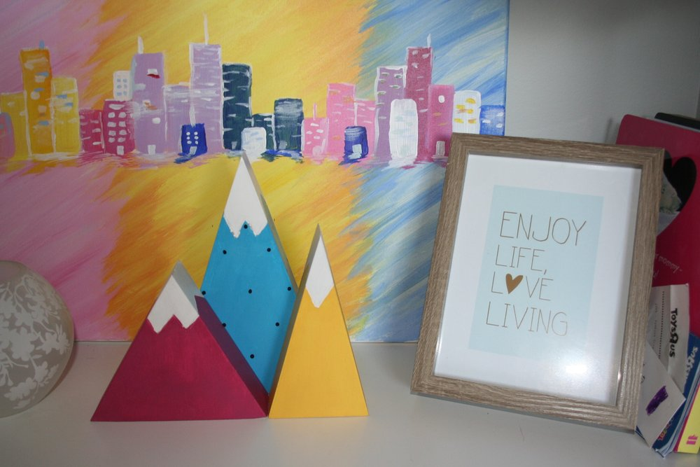How sweet are these little mountain blocks? Our sweet friend brought them back from a market in Canmore, BC. from a little shop called St. Brendans Folk Art! www.stbrendans.etsy.com