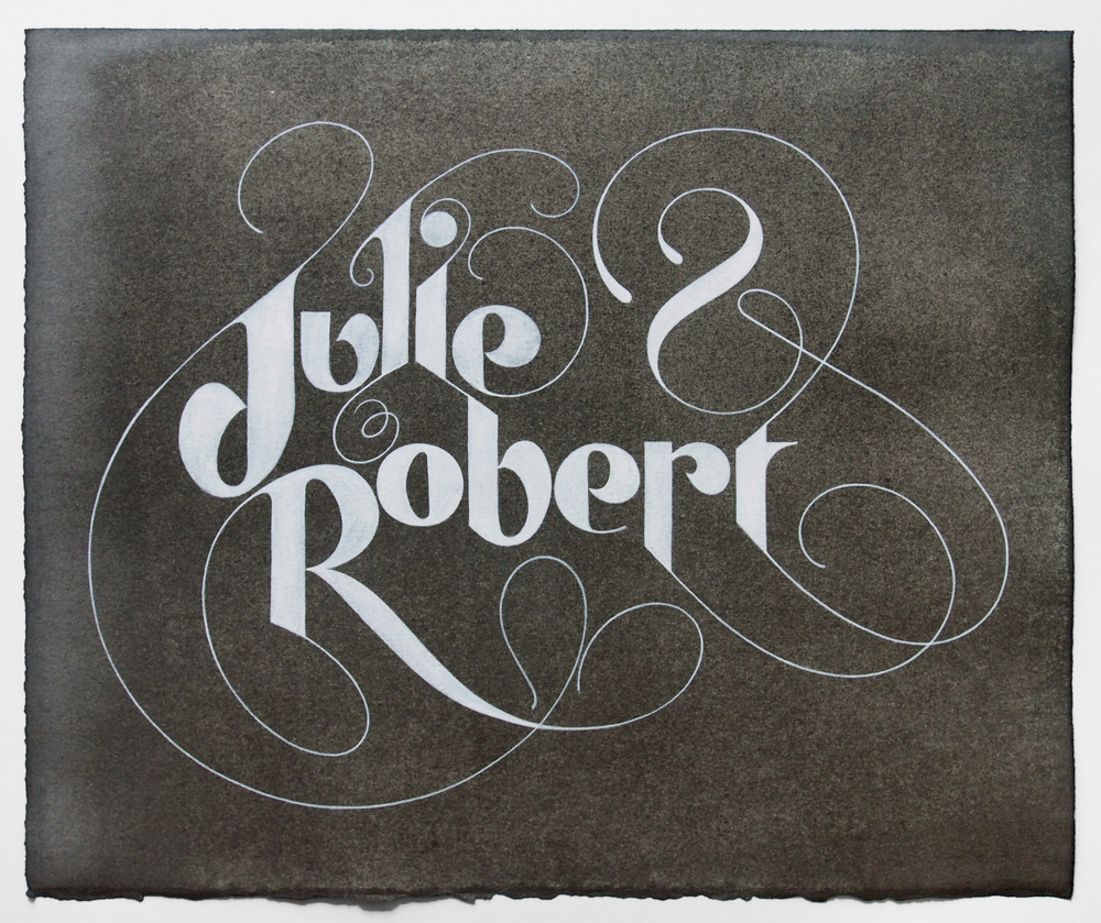Julie-and-Robert-Lettering