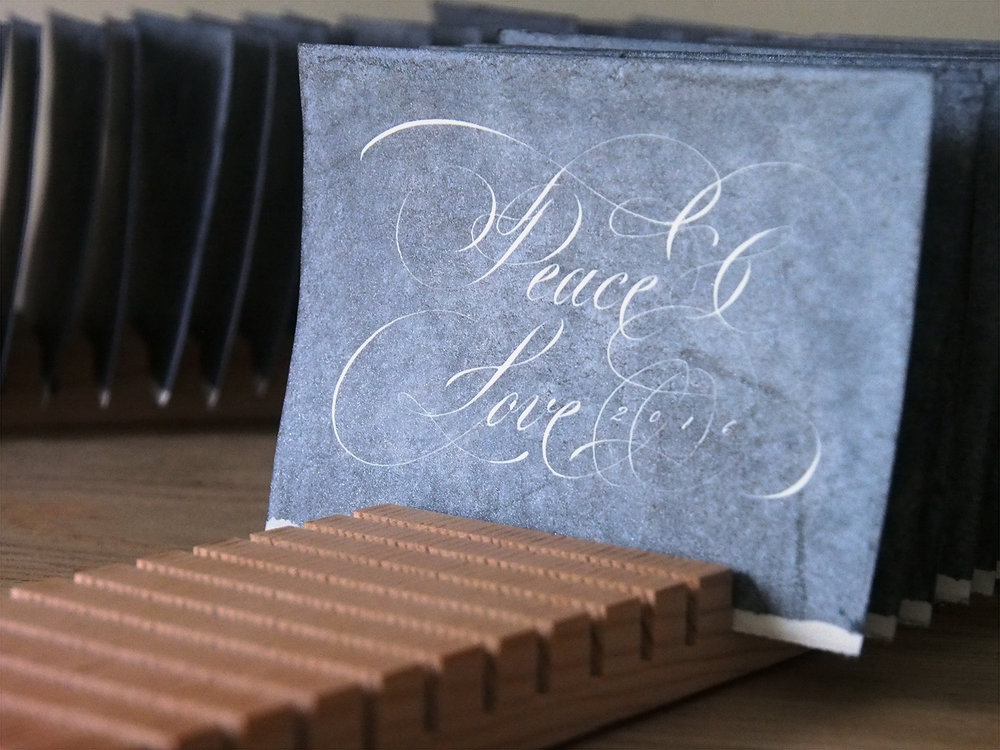 Flourished Copperplate Style Card