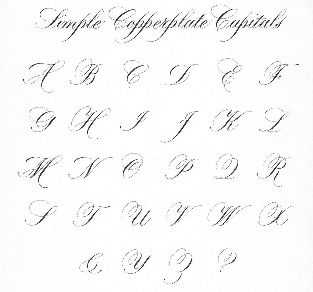 Copperplate Script - Simple Capitals