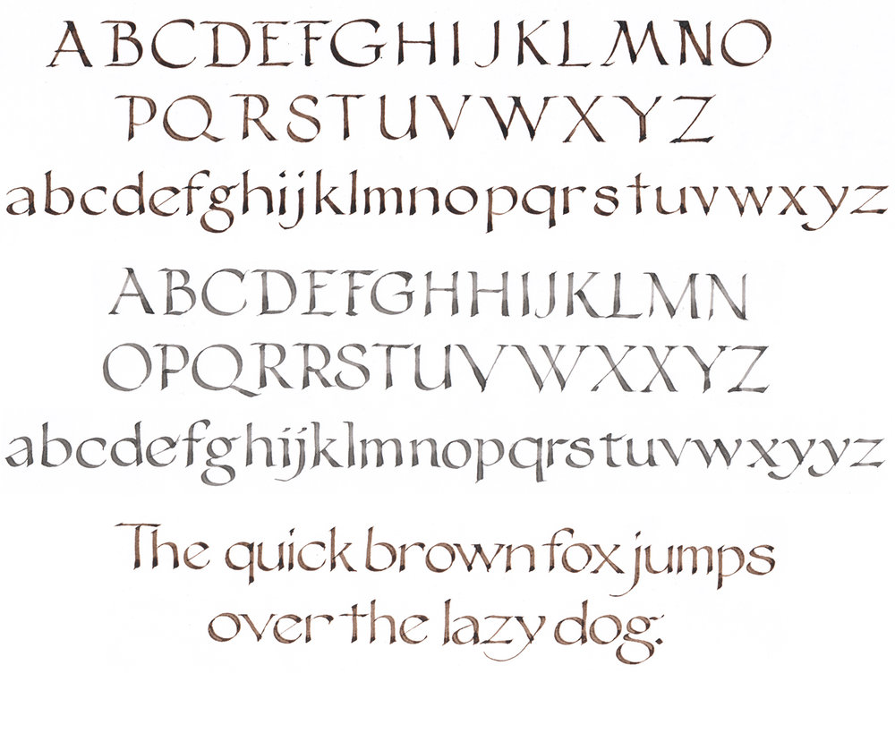 Roman Capitals and Foundational Hand