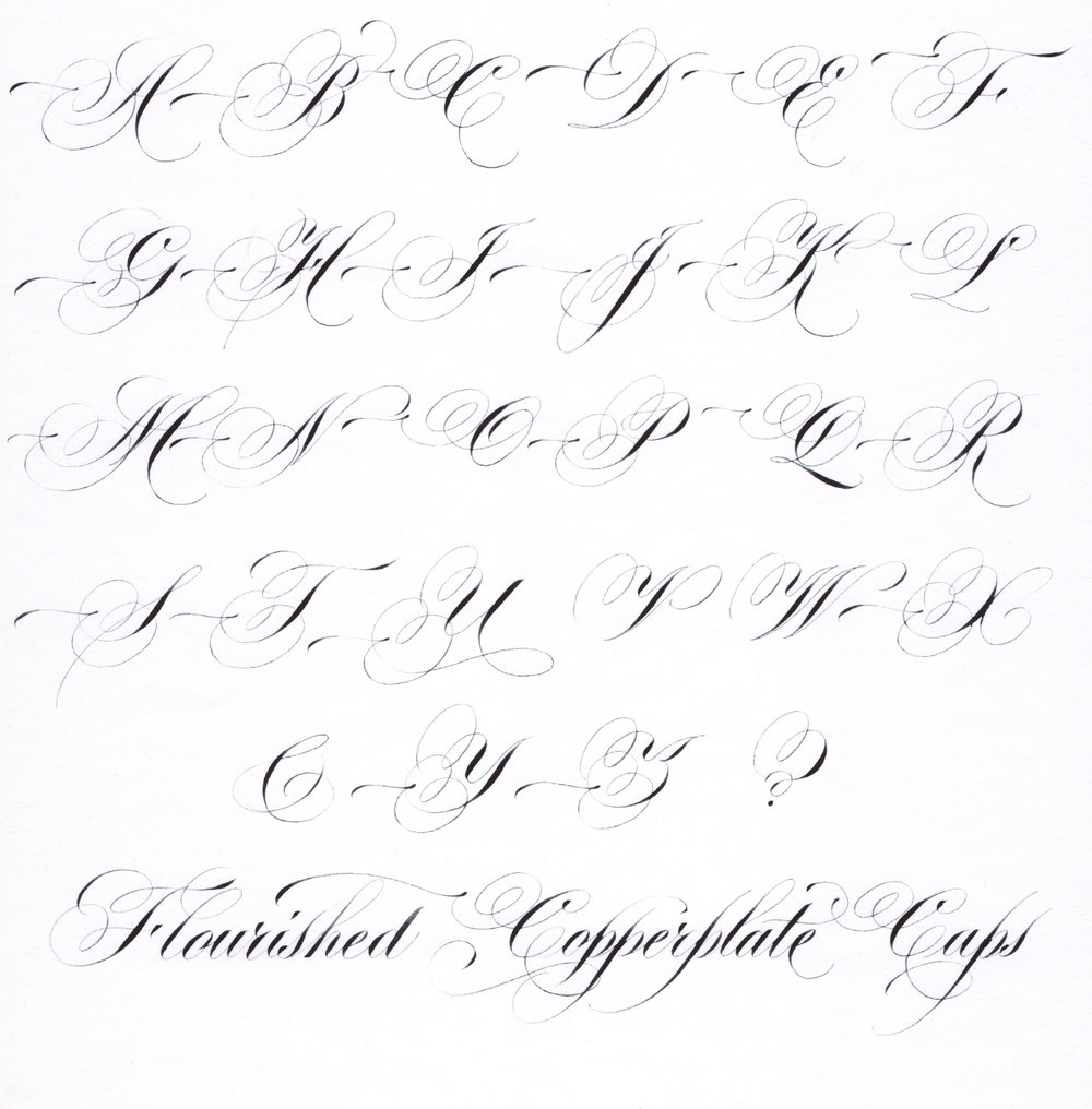 Hybrid Copperplate Script - Flourished Capitals